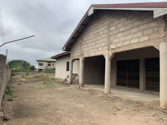 Uncompleted house on 2 plots at Adenta for sale